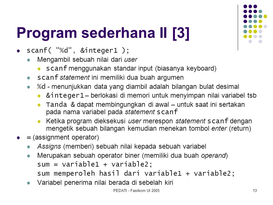 Program sederhana II [3]